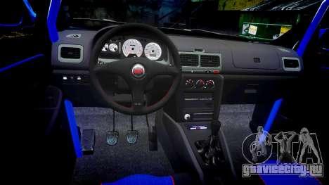 Subaru Impreza WRC 1998 v4.0 World Rally для GTA 4 вид сзади