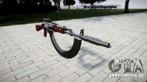 Автомат АК-47 Collimator. Muzzle and HICAP для GTA 4
