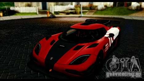 Koenigsegg One:1 v2 для GTA San Andreas вид сверху