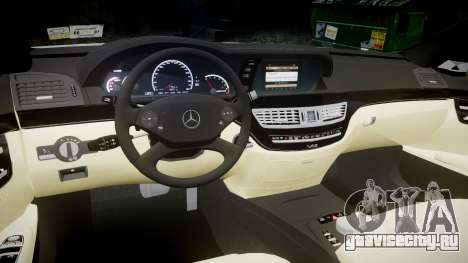 Mercedes-Benz S65 W221 AMG v2.0 rims1 для GTA 4 вид изнутри