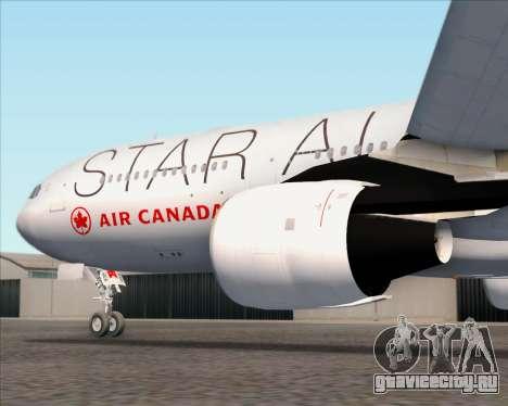 Airbus A330-300 Air Canada Star Alliance Livery для GTA San Andreas колёса