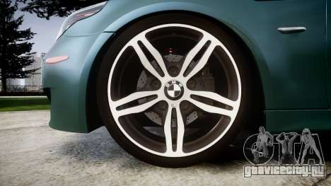 BMW M5 E60 v2.0 Stock rims для GTA 4 вид сзади