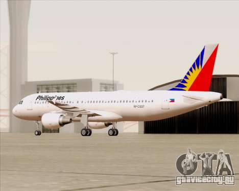 Airbus A320-200 Philippines Airlines для GTA San Andreas вид сбоку