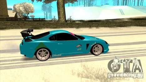 Toyota Supra Blue Lightning для GTA San Andreas вид сзади слева