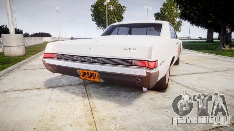 Pontiac GTO 1965 united для GTA 4 вид сзади слева