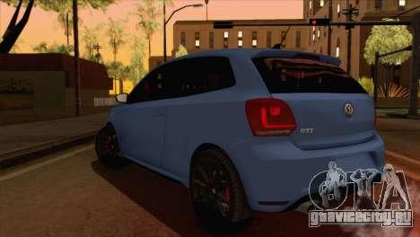 Volkswagen Polo GTi 2014 для GTA San Andreas вид слева