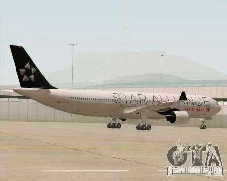 Airbus A330-300 Air Canada Star Alliance Livery для GTA San Andreas вид изнутри