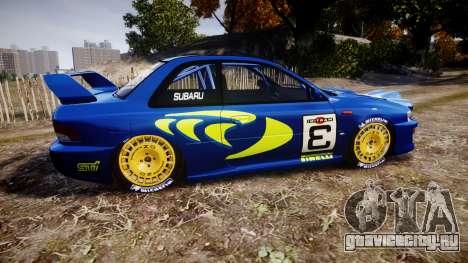 Subaru Impreza WRC 1998 v4.0 World Rally для GTA 4 вид слева