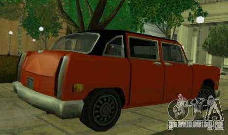 Cabbie Restyle для GTA San Andreas вид сзади слева
