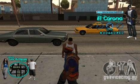 C-HUD Aztec El Corona для GTA San Andreas второй скриншот