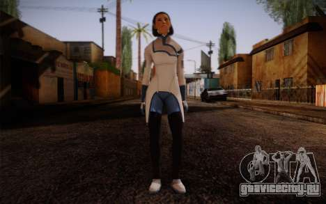 Dr. Eva Sci Fi New Face from Mass Effect для GTA San Andreas