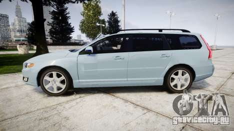Volvo V70 2014 Swedish Police [ELS] Unmarked для GTA 4 вид слева