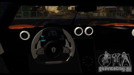 Koenigsegg One:1 v2 для GTA San Andreas вид сзади слева