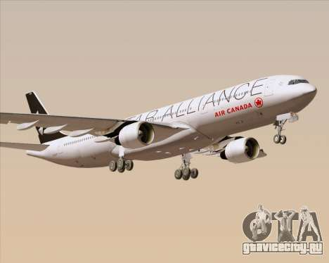 Airbus A330-300 Air Canada Star Alliance Livery для GTA San Andreas вид сбоку