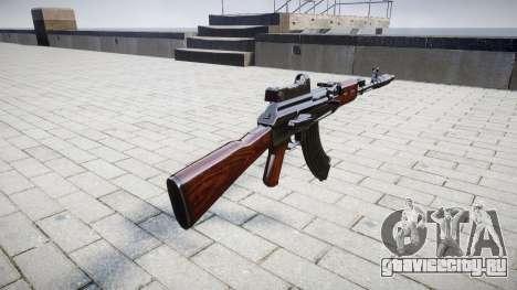 Автомат АК-47 Collimator and Muzzle brake для GTA 4 второй скриншот