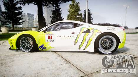 Ferrari 458 GT2 для GTA 4 вид слева