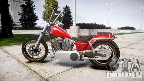 Western Motorcycle Company Daemon для GTA 4 вид слева