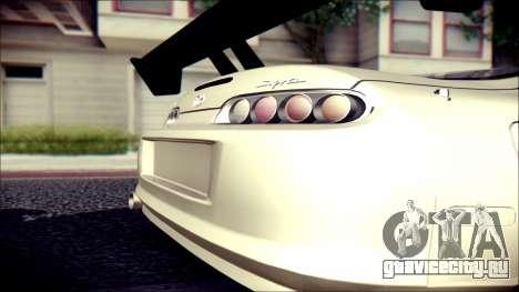 Toyota Supra Street Edition для GTA San Andreas вид сзади слева