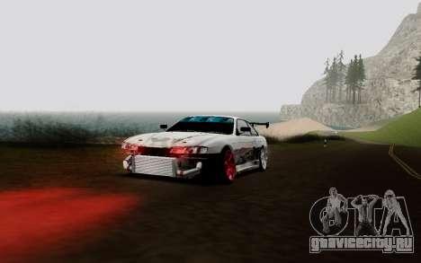 Nissan Silvia S14 VCDT V2.0 для GTA San Andreas вид изнутри