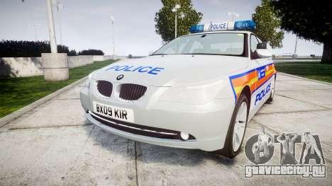 BMW 525d E60 2009 Police [ELS] для GTA 4