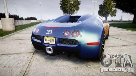 Bugatti Veyron 16.4 v2.0 для GTA 4 вид сзади слева