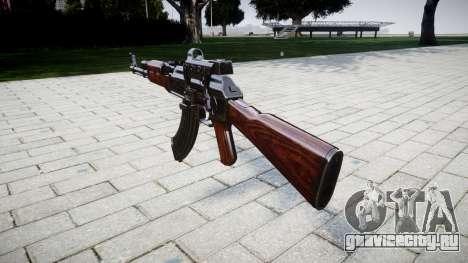 Автомат АК-47 Collimator target для GTA 4 второй скриншот