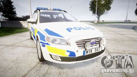 Volvo V70 2014 Swedish Police [ELS] Marked для GTA 4