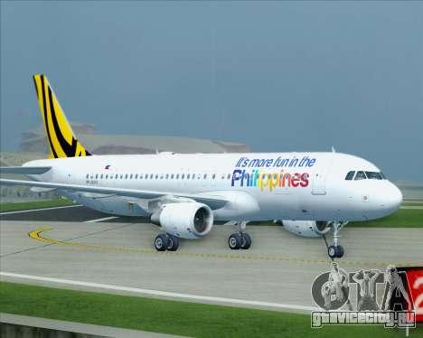 Airbus A320-200 Tigerair Philippines для GTA San Andreas вид сверху