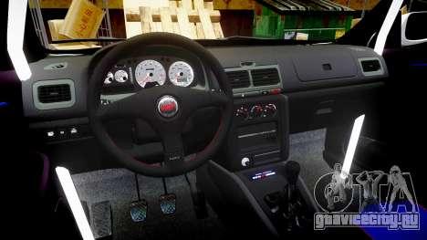 Subaru Impreza WRC 1998 v4.0 SA Competio для GTA 4 вид сзади