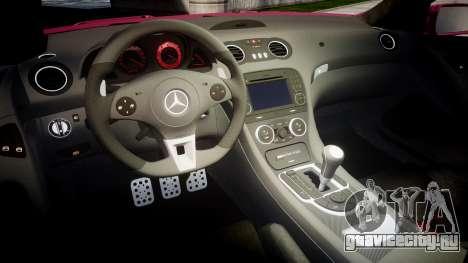 Mersedes-Benz SL65 AMG 2009 для GTA 4 вид изнутри