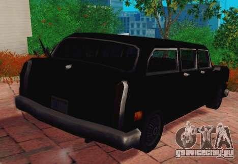 Cabbie Wagon для GTA San Andreas вид сзади слева