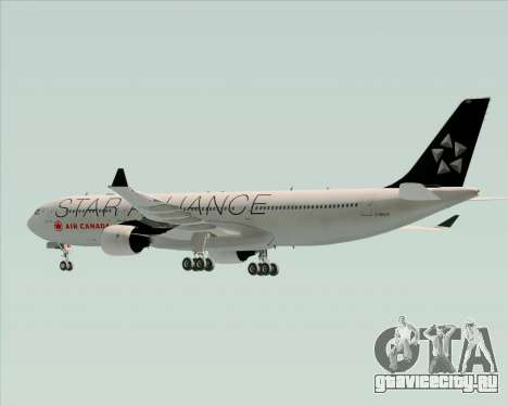 Airbus A330-300 Air Canada Star Alliance Livery для GTA San Andreas вид снизу