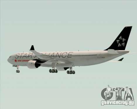 Airbus A330-300 Air Canada Star Alliance Livery для GTA San Andreas вид снизу