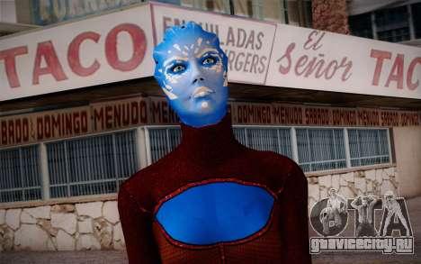 Asari Dancer from Mass Effect для GTA San Andreas третий скриншот
