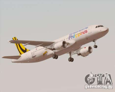 Airbus A320-200 Tigerair Philippines для GTA San Andreas салон
