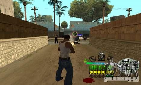 C-HUD Groove Street для GTA San Andreas третий скриншот