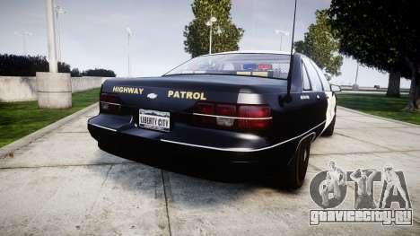 Chevrolet Caprice 1991 Highway Patrol [ELS] Slic для GTA 4 вид сзади слева