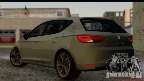 Seat Leon Fr 2013 для GTA San Andreas вид слева
