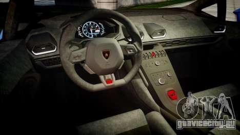 Lamborghini Huracan LP610-4 2015 Sharpie для GTA 4 вид изнутри