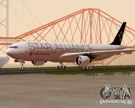 Airbus A330-300 Air Canada Star Alliance Livery для GTA San Andreas вид сверху
