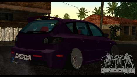 Mazda 3 для GTA San Andreas вид слева