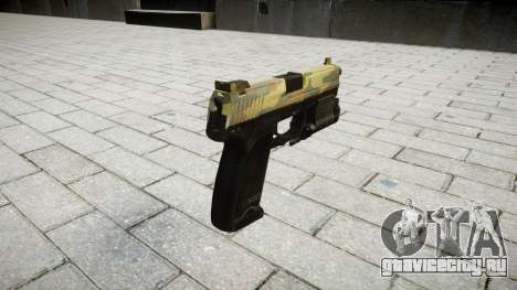 Пистолет HK USP 45 flora для GTA 4 второй скриншот