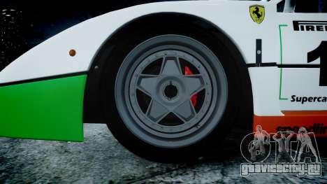 Ferrari F40 1987 [EPM] Jolly Club для GTA 4 вид сзади