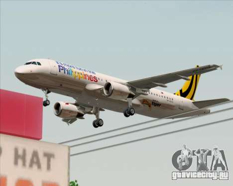 Airbus A320-200 Tigerair Philippines для GTA San Andreas вид снизу