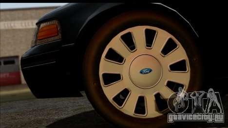 LAPD Ford Crown Victoria Whelen Lightbar для GTA San Andreas вид справа