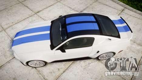 Ford Mustang GT Tobey Marshall для GTA 4 вид справа
