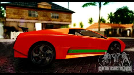 GTA 5 Pegassi Infernus [HQLM] для GTA San Andreas вид сзади слева