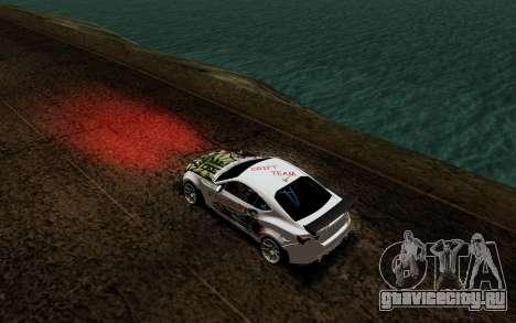 Subaru BRZ VCDT для GTA San Andreas вид сзади