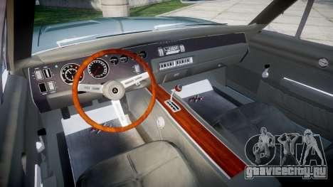 Dodge Charger RT 1969 для GTA 4 вид сзади