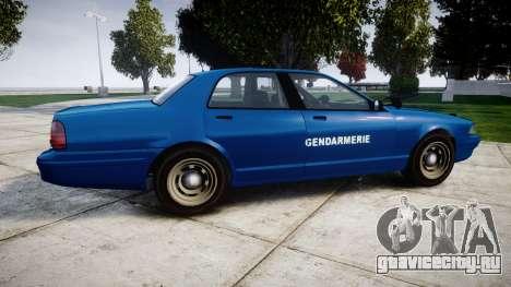 GTA V Vapid Police Cruiser Gendarmerie2 для GTA 4 вид слева